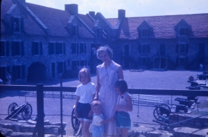 Mom with Carol, me, and little Jim at Ft. Ticonderoga