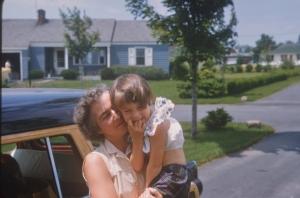 Mom & me by car