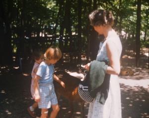 Mom, Carol and me at Catskill Game Farm