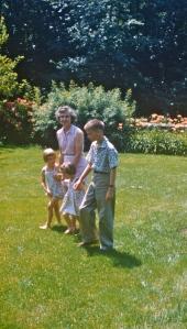Mom, Tim, my older sister Carol, and me