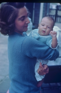 Mom with her first child, my brother Tim